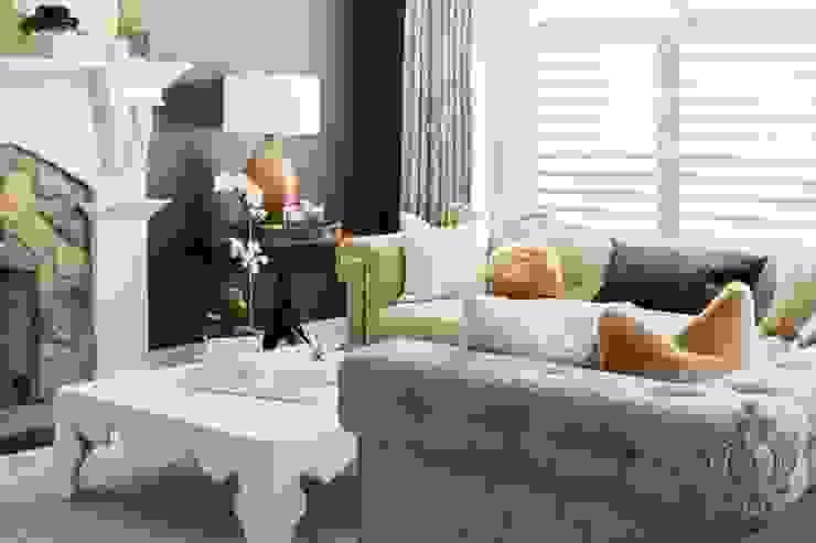 Dash of Gold Modern Living Room by Kellie Burke Interiors Modern