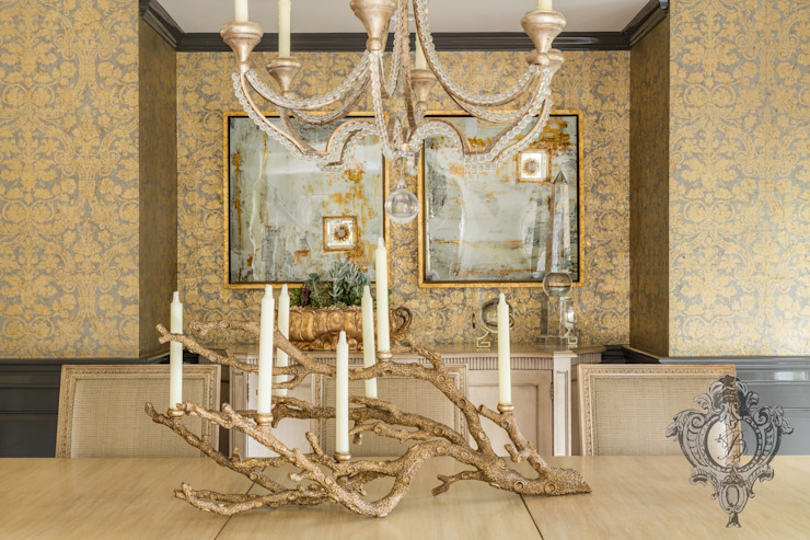 Dash of Gold Modern Dining Room by Kellie Burke Interiors Modern