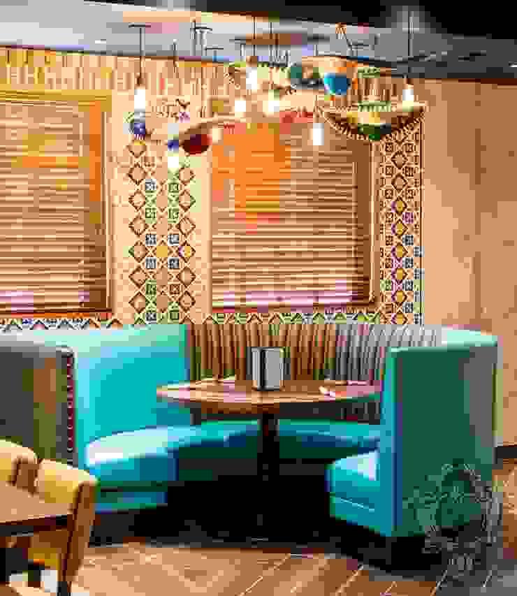 Restaurant Booth by Kellie Burke Interiors Mediterranean