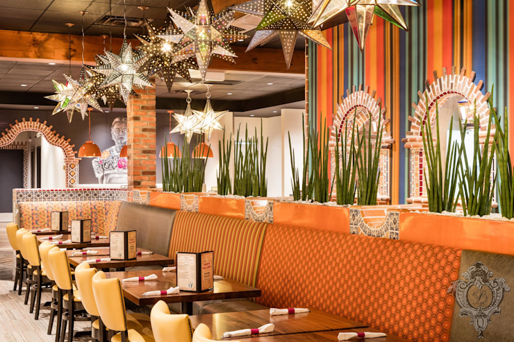 Restaurant Booths by Kellie Burke Interiors Mediterranean
