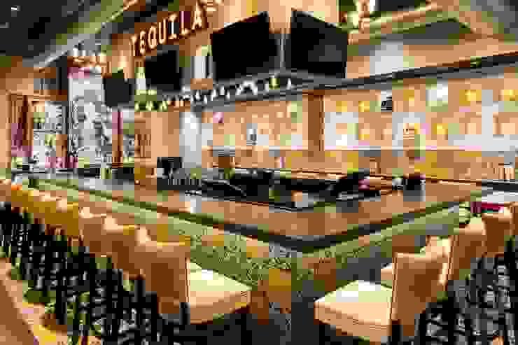 Restaurant Bar Mediterranean style bars & clubs by Kellie Burke Interiors Mediterranean