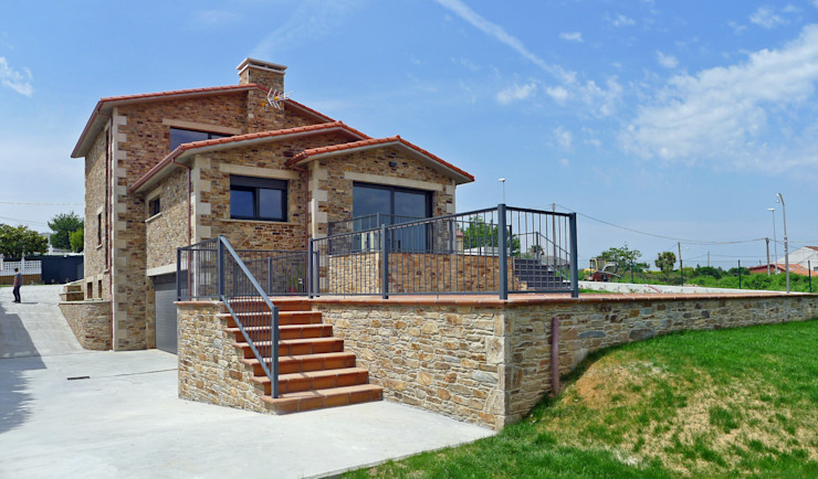 Casas rústicas de AD+ arquitectura Rústico Piedra