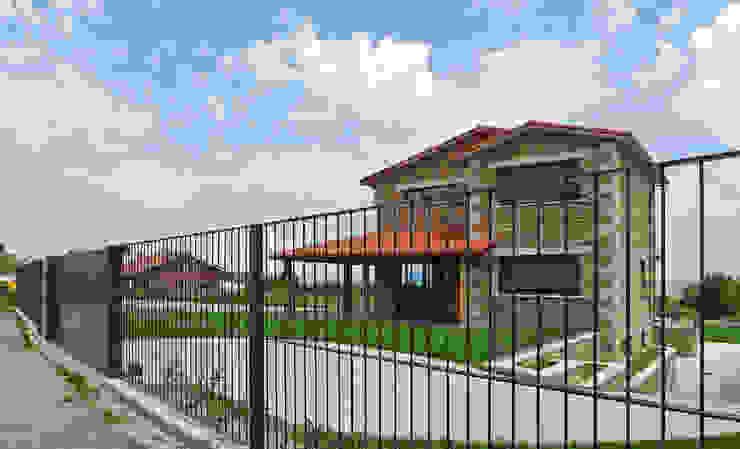 Casas de estilo rústico de AD+ arquitectura Rústico Piedra