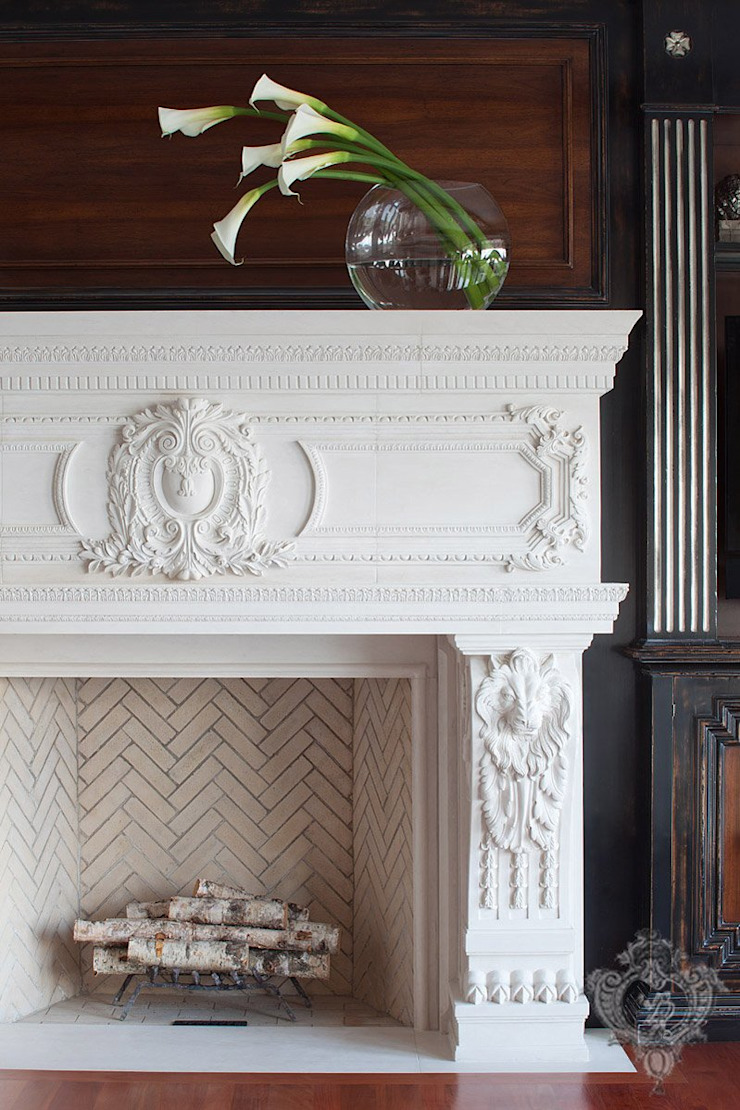 Living Room Fireplace by Kellie Burke Interiors Classic