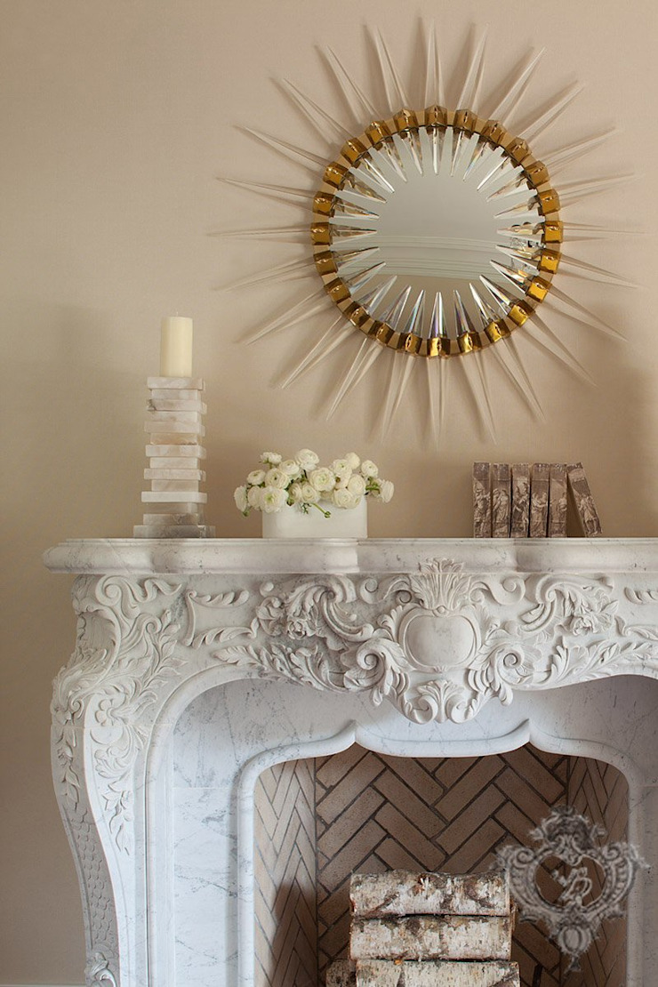 Dining Room Fireplace Classic style dining room by Kellie Burke Interiors Classic