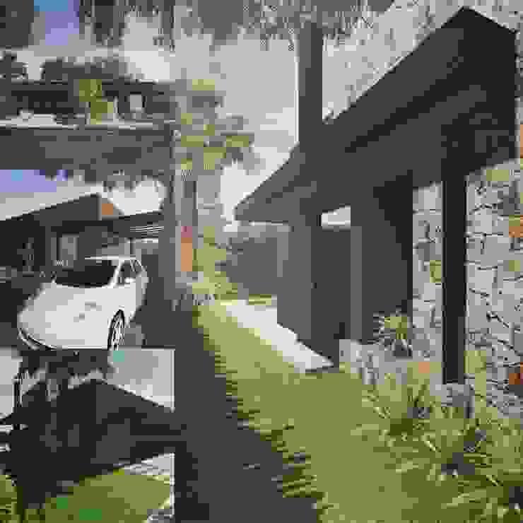 Vivienda Casas modernas: Ideas, imágenes y decoración de Estudio Karduner Arquitectura Moderno Piedra