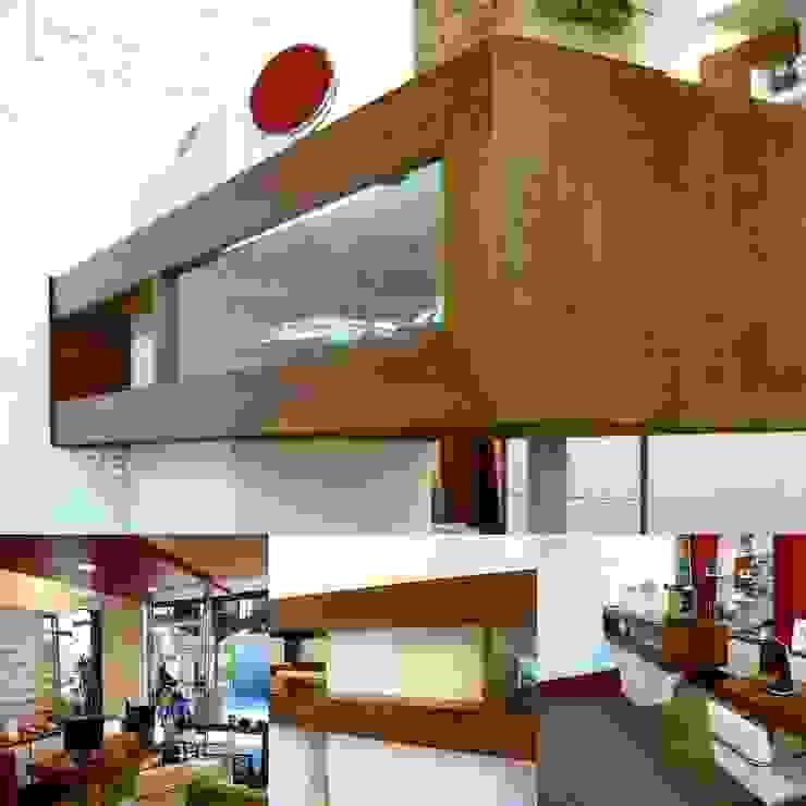 Офисы и магазины в стиле модерн от Estudio Karduner Arquitectura Модерн Дерево Эффект древесины