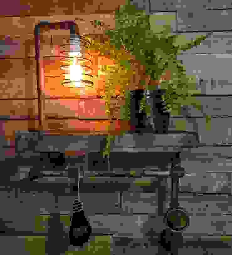 industriell  von Lamparas Vintage Vieja Eddie, Industrial Holz Holznachbildung