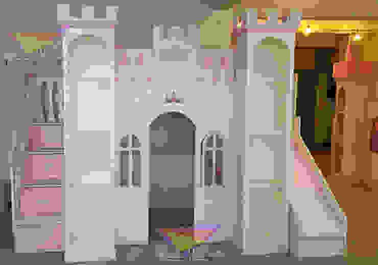 Precioso castillo litera de camas y literas infantiles kids world Clásico Derivados de madera Transparente