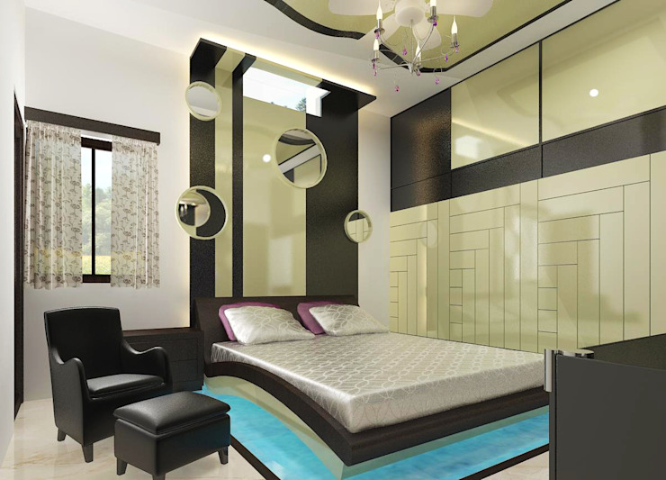 Residence OF Mr.Raghav Asian style bedroom by A-Z Architects & Vaastu Asian