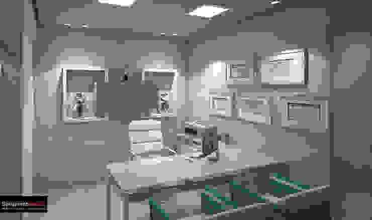 Diseño Consultorio Clinicia MAxilofacial - Barranquilla Estudios y despachos de estilo moderno de Savignano Design Moderno