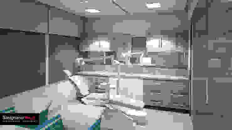 Diseño Consultorio Clinicia MAxilofacial – Barranquilla Estudios y despachos de estilo moderno de Savignano Design Moderno
