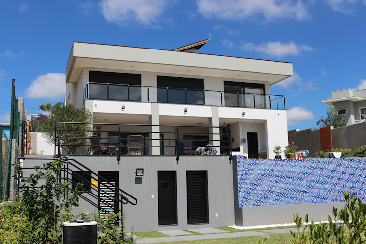LL - Projeto e Construção Condomínio Lagos em Itupeva Casas modernas por Araujo Moraes Engenharia Arquitetura Moderno Concreto