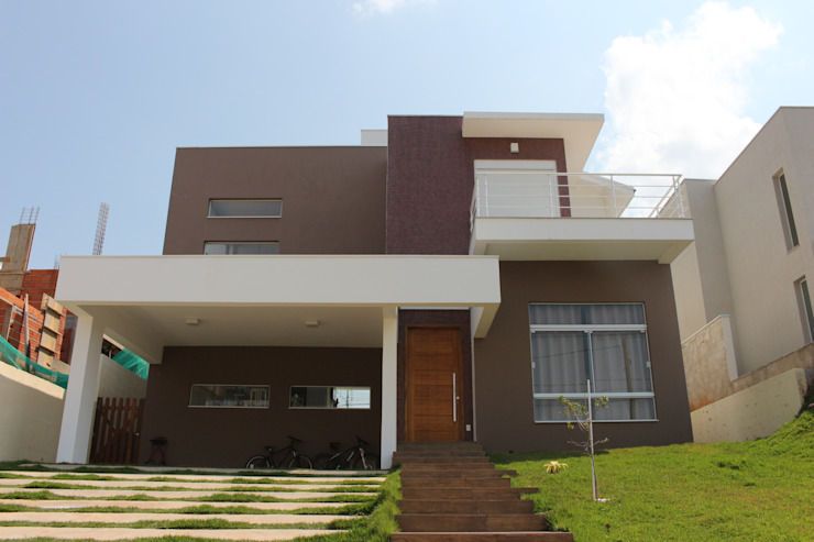 Rumah Modern Oleh Araujo Moraes Engenharia Arquitetura Modern Keramik