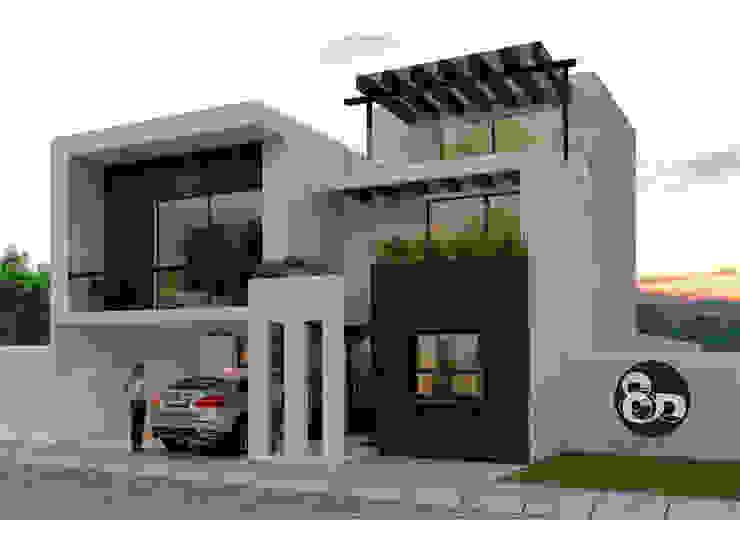 Fachada Principal Casas modernas de ECNarquitectura Moderno