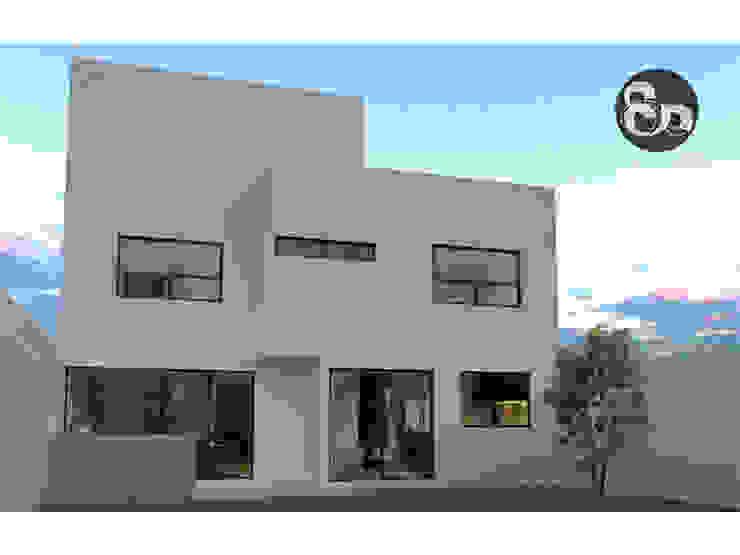 Fachada trasera Casas modernas de ECNarquitectura Moderno