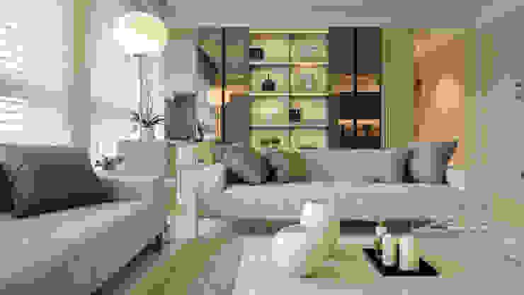 غرفة المعيشة تنفيذ 汎羽空間設計, حداثي