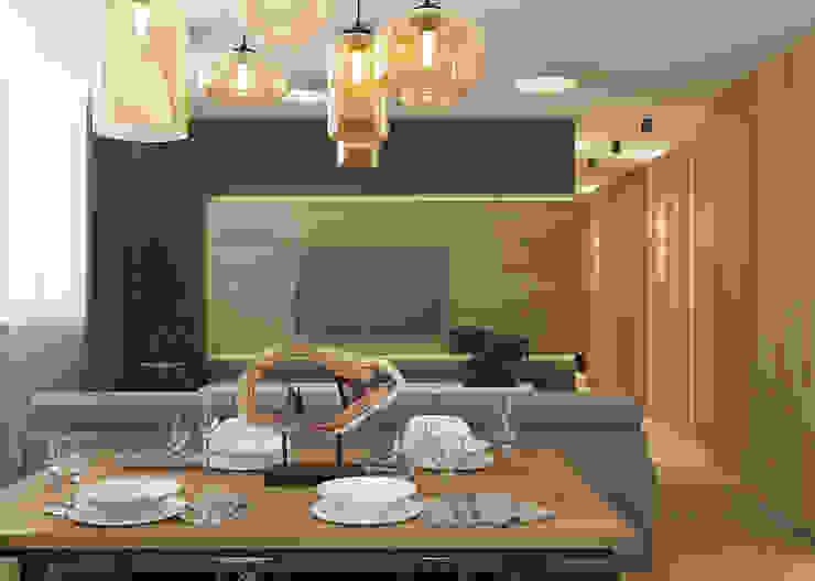 Salas / recibidores de estilo  por Дизайн Студия 33,