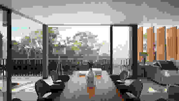Arthouse condo by IURO Modern Concrete