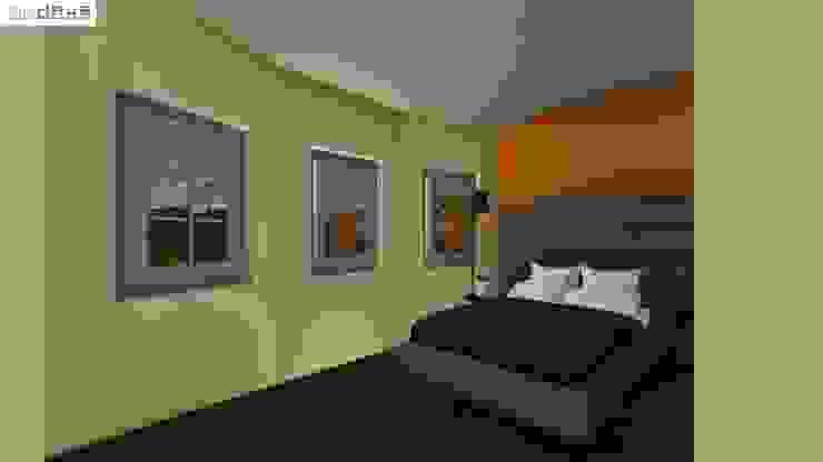 Recámara OmaHaus Arquitectos Dormitorios rústicos
