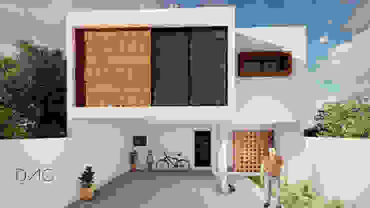 Maisons modernes par DAC arquitectura Moderne Pierre