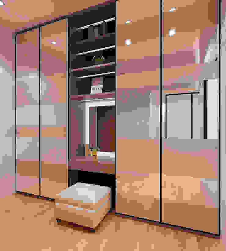 Lance wood @ Navapark BSD Ruang Ganti Minimalis Oleh iugo design Minimalis
