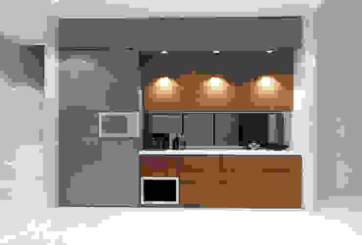 Lance wood @ Navapark BSD Dapur Minimalis Oleh iugo design Minimalis