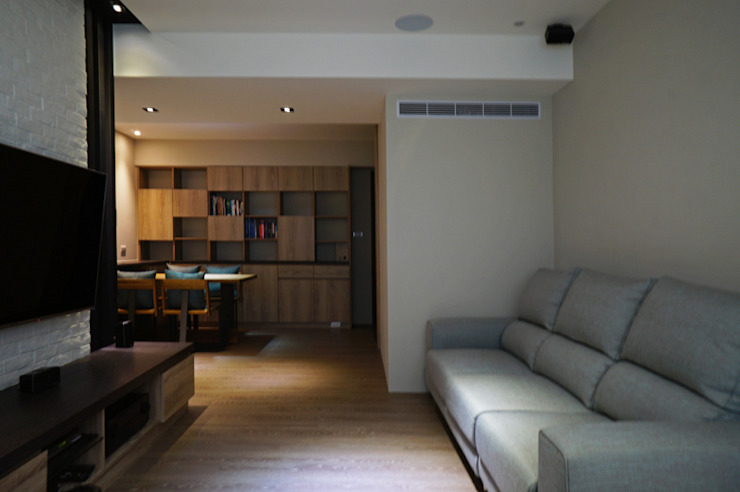 Salas de estar modernas por ISQ 質の木系統家具 Moderno