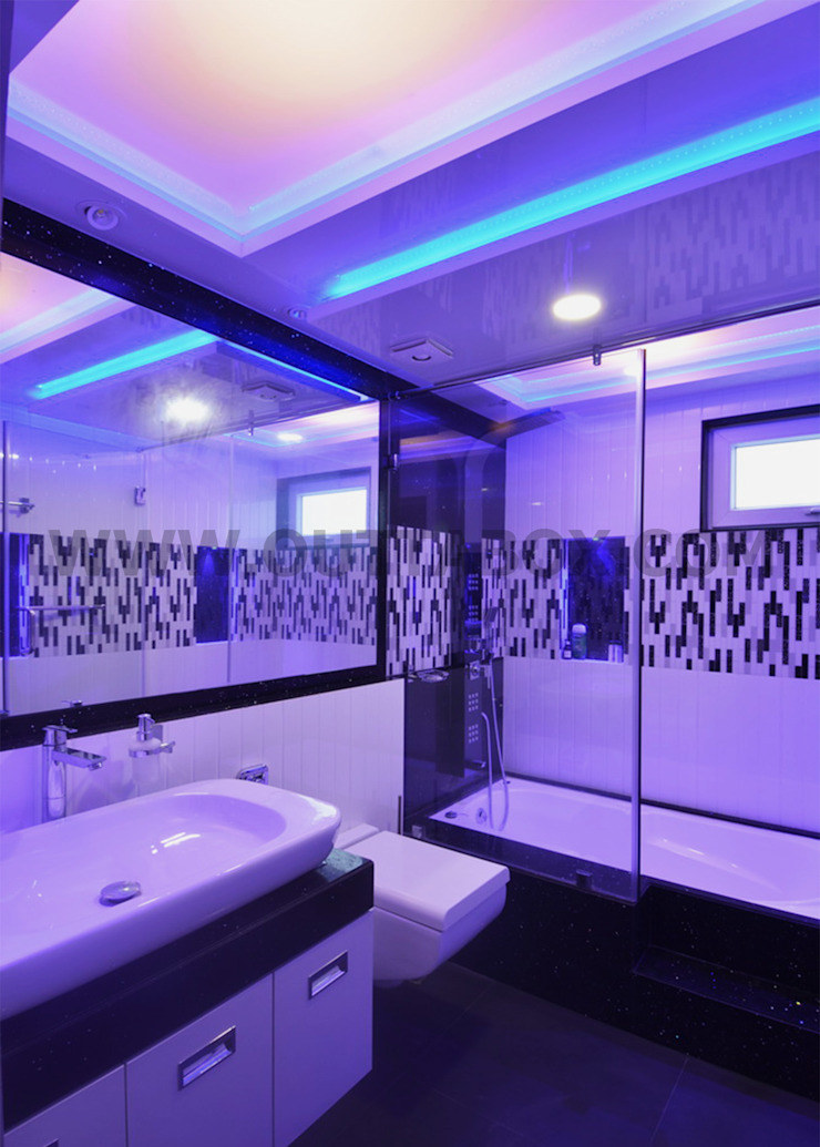 residential project Modern bathroom by Outtabox Modern