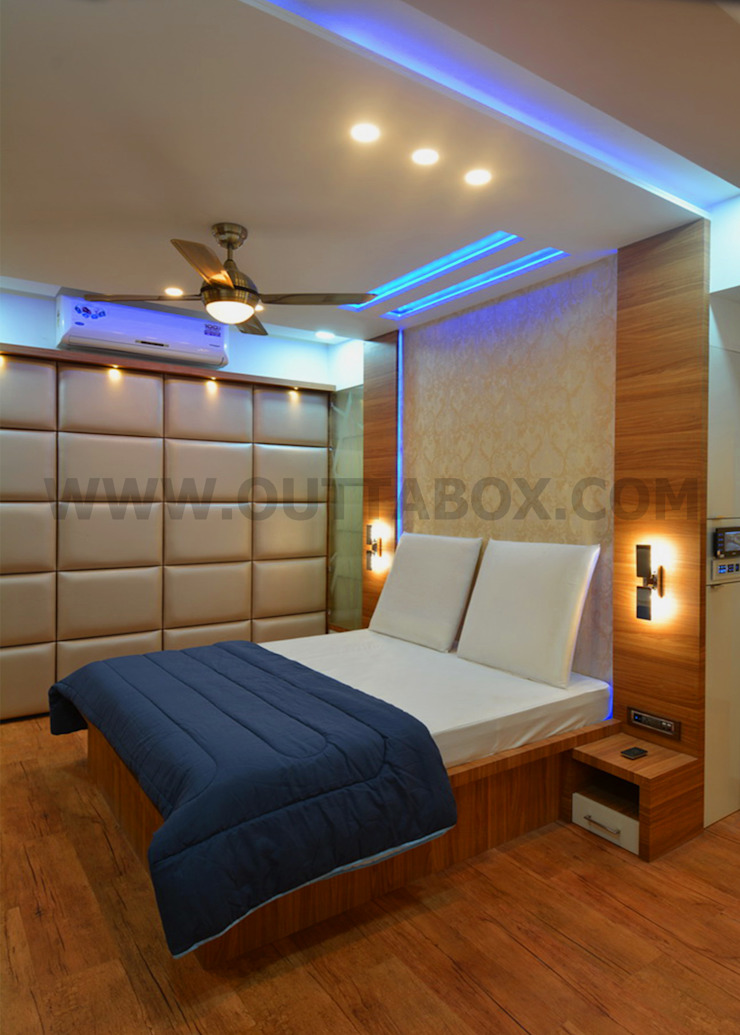 residential project Modern style bedroom by Outtabox Modern