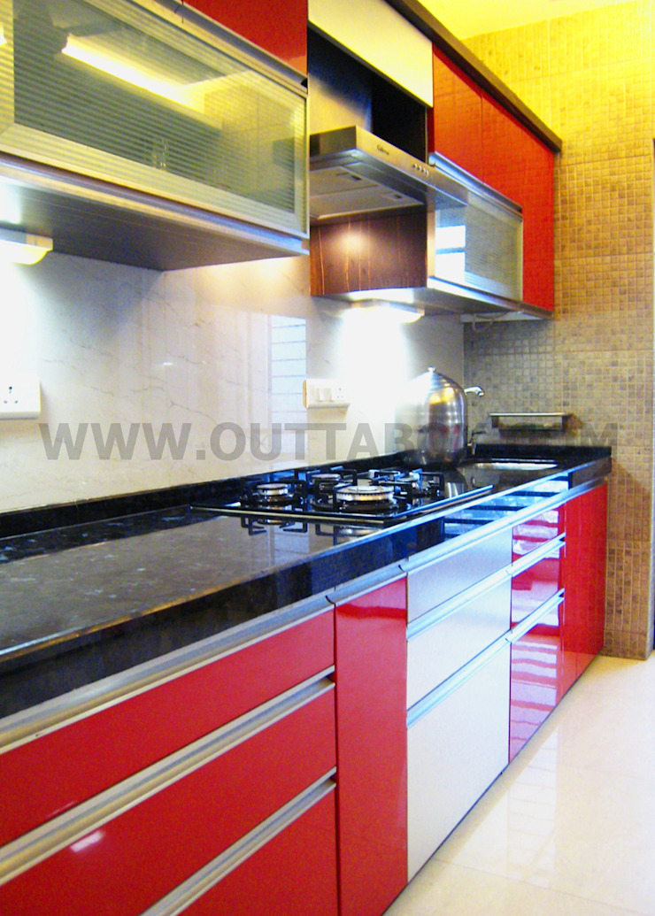 residential project Modern kitchen by Outtabox Modern