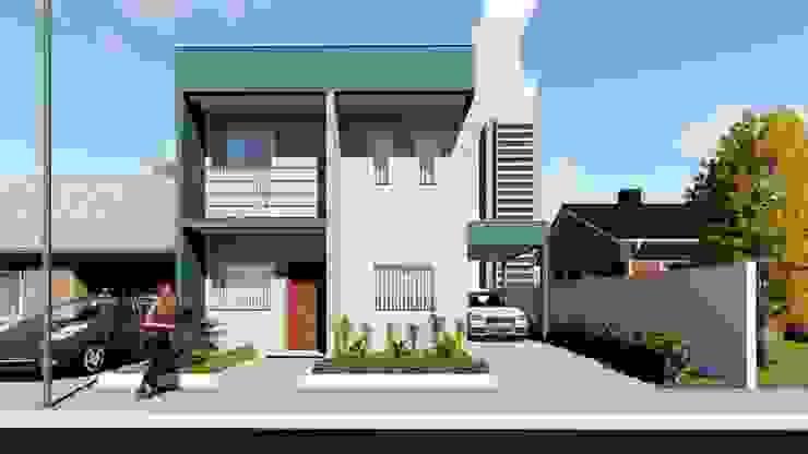 Fachada Projeto Casas modernas por Marco Lima Arquitetura + Design Moderno