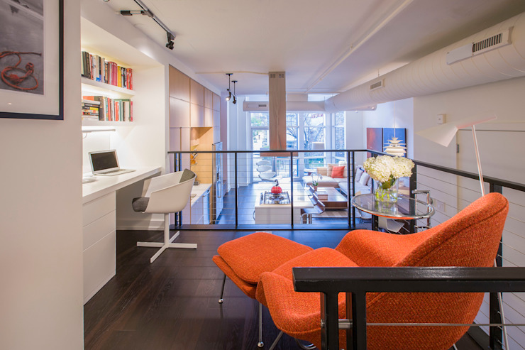 Logan Circle Duplex Modern Study Room and Home Office by FORMA Design Inc. Modern