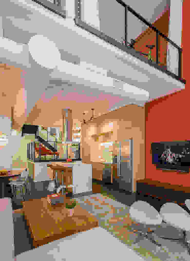 Logan Circle Duplex Modern Kitchen by FORMA Design Inc. Modern