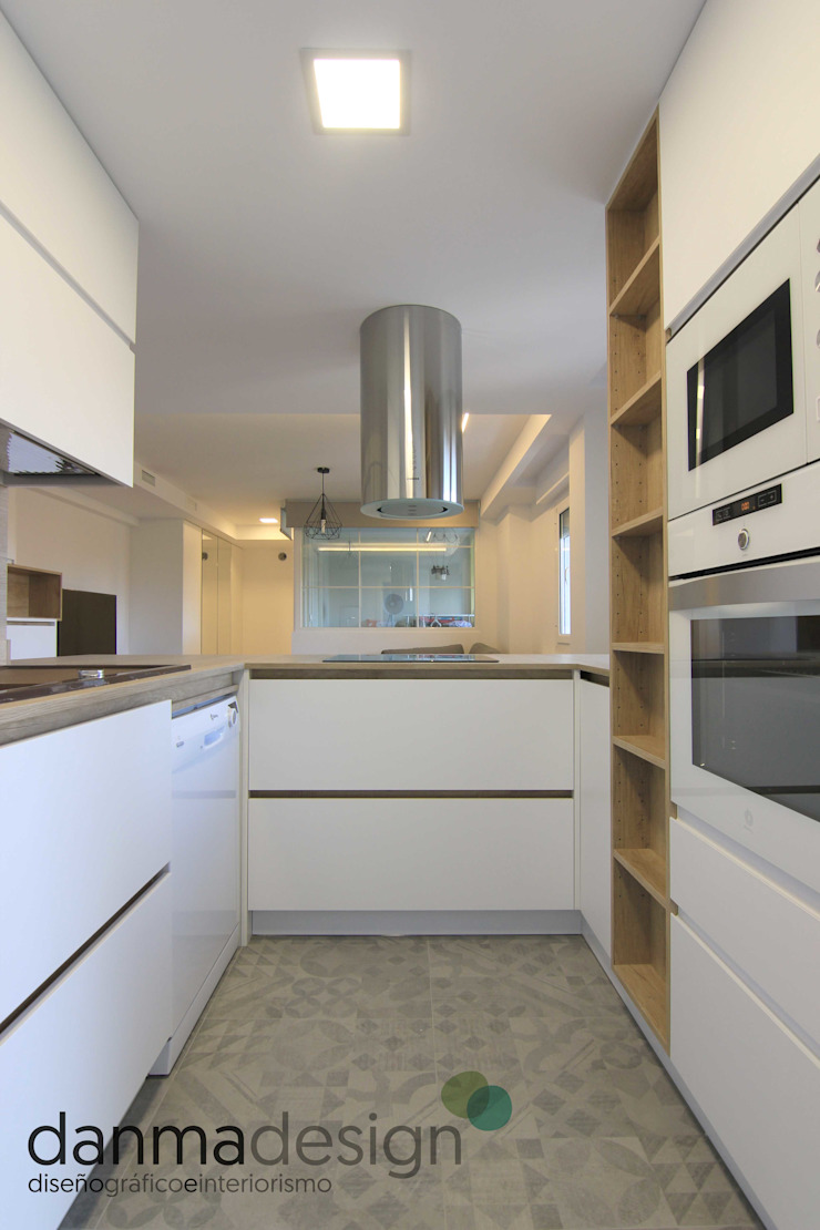 Apartamento Nórdico Cocinas de estilo escandinavo de Danma Design Escandinavo