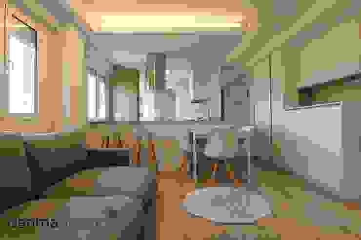 Apartamento Nórdico Salones de estilo escandinavo de Danma Design Escandinavo