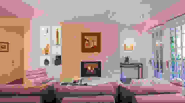 McLean Transitional Modern Living Room by FORMA Design Inc. Modern