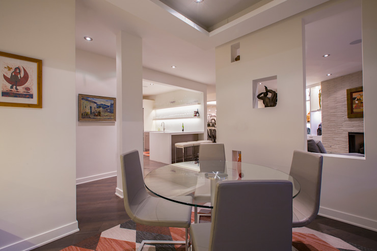McLean Transitional Modern Dining Room by FORMA Design Inc. Modern