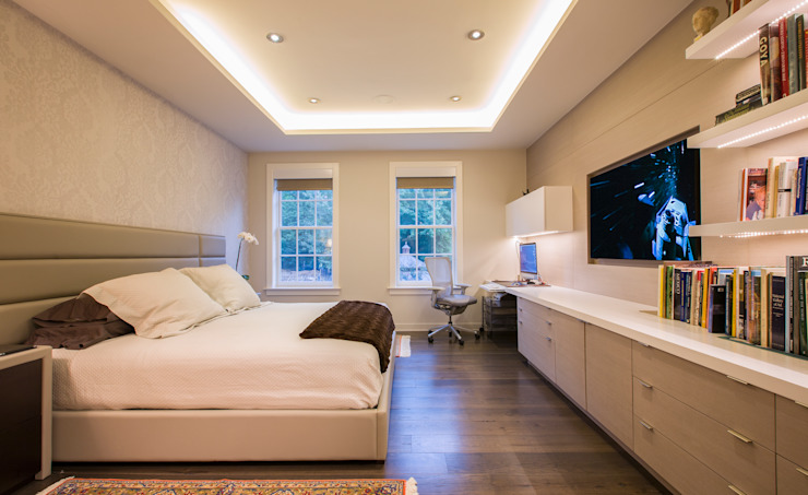 McLean Transitional Modern Bedroom by FORMA Design Inc. Modern