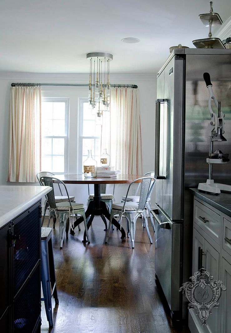 Kitchen Table Industrial style kitchen by Kellie Burke Interiors Industrial
