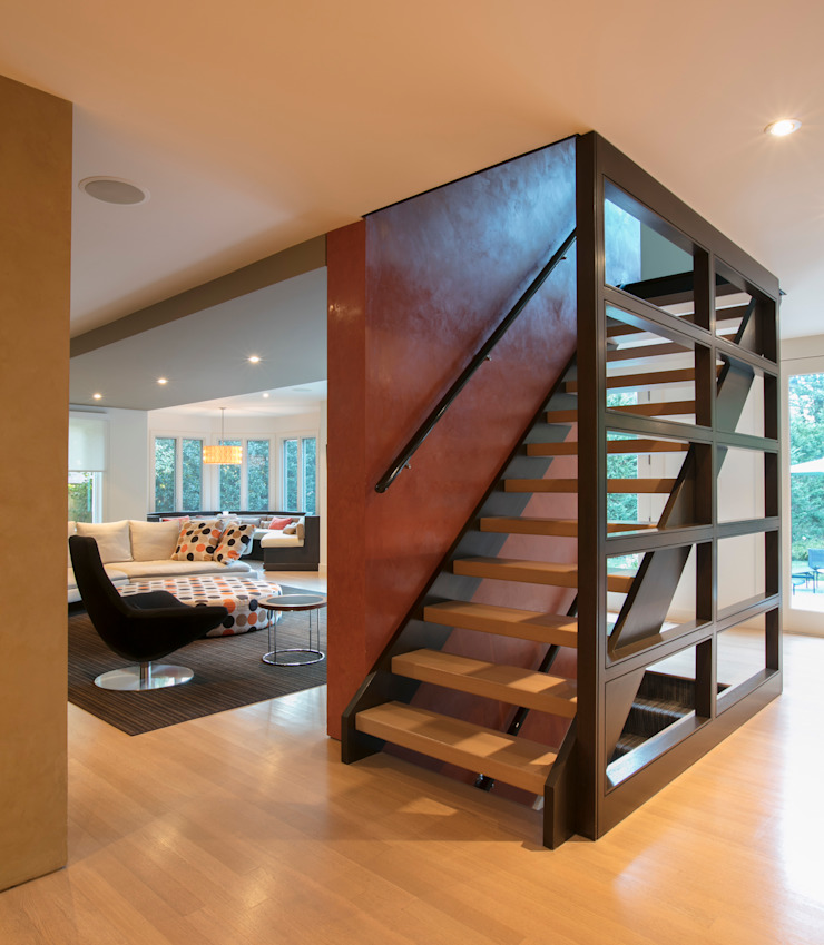 Spring Valley Residence Modern Corridor, Hallway and Staircase by FORMA Design Inc. Modern