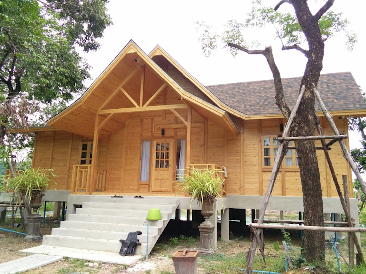 bởi Sukjai Logcabin Partnership Kinh điển Than củi Multicolored