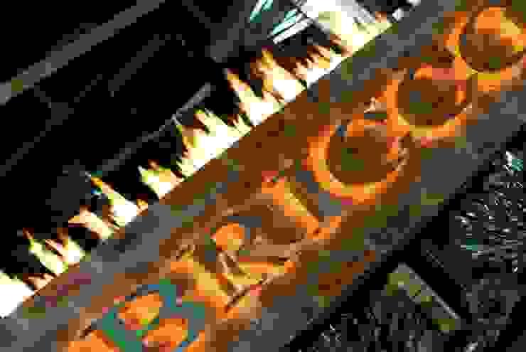 Restaurant Signage by Kellie Burke Interiors Rustic