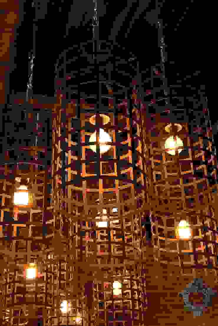 Restaurant Light Fixture by Kellie Burke Interiors Rustic
