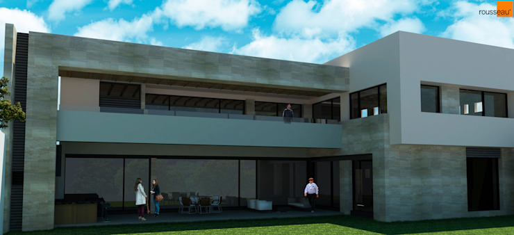 Rousseau Arquitectos Modern houses Grey