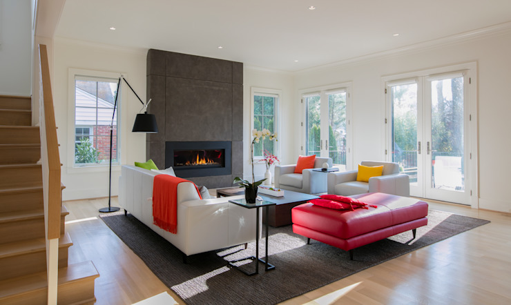 Bethesda Modern Modern Living Room by FORMA Design Inc. Modern