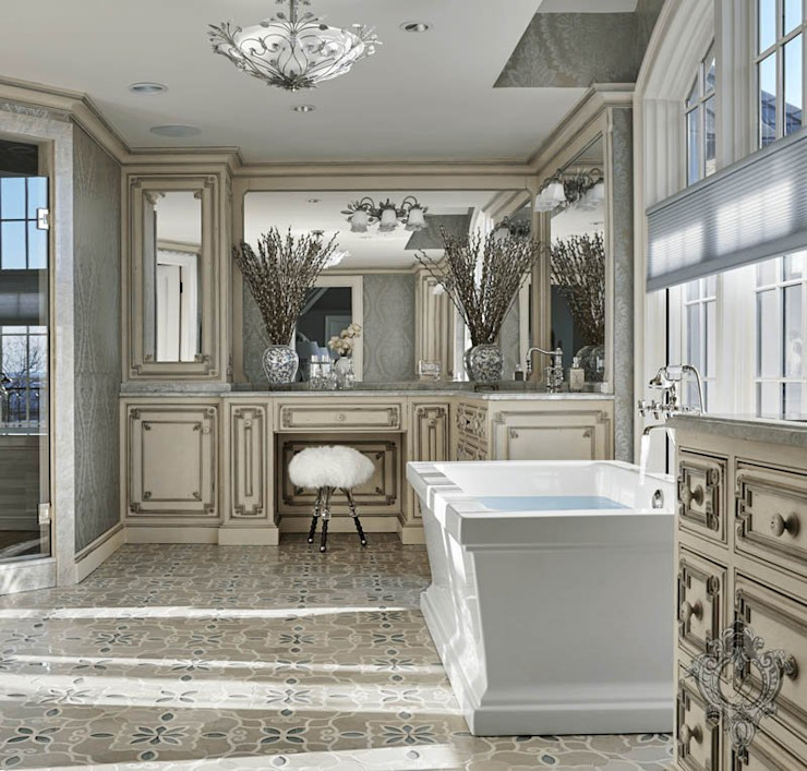 Master Bathroom by Kellie Burke Interiors Classic