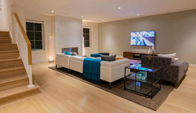 Bethesda Modern Modern Media Room by FORMA Design Inc. Modern