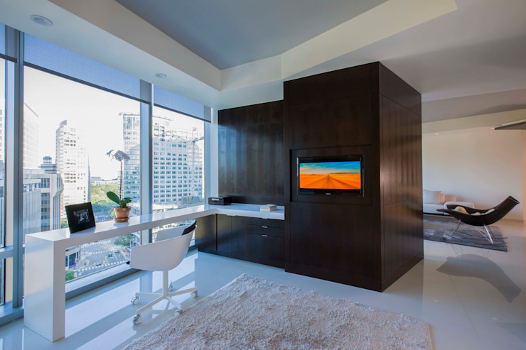 Skyline Flat in Rosslyn Modern Study Room and Home Office by FORMA Design Inc. Modern