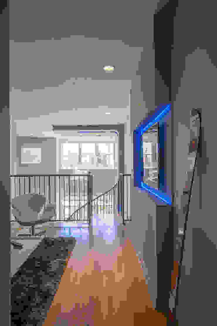 Loft in Arlington Modern Media Room by FORMA Design Inc. Modern